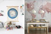 Mapy v interiéru lákají k cestování